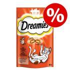 60 g Dreamies-kissanherkkuja erikoishintaan!