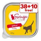 100g Feringa Classic Meat Menu Wet Cat Food Trays - 38 + 10 Free!*