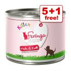200g Feringa Menu Kitten Wet Cat Food - 5 + 1 Free!*