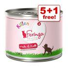 200g Feringa Menu Kitten Wet Cat Food - 5 + 1 Free!*