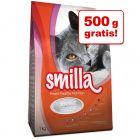 500 g + 500 g  gratis! 1 kg Smilla droog kattenvoer