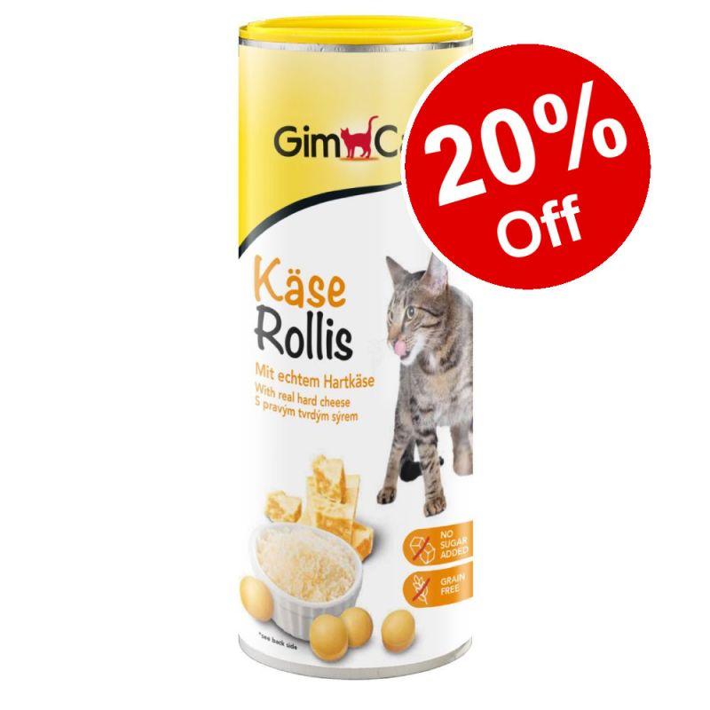 425g GimCat Cheese Rollies / GrasBits Cat Treats - 20% Off!*