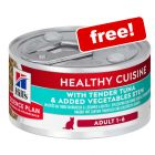 79g Hill's Science Plan Healthy Cuisine Tuna & Vegetable Stew - Free!*