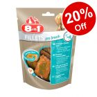 80g 8in1 Fillets Dog Treats - 20% Off!*