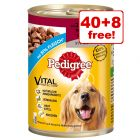 385/400g Pedigree Wet Dog Food Cans - 40 + 8 Free!*
