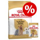 Gemengd pakket: Royal Canin Breed Hondenvoer - Yorkshire Terrier Adult