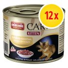 Gemengd Pakket Animonda Carny Kitten 12 x 200 g