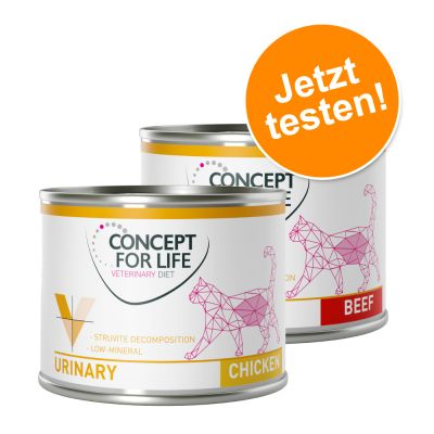 Gemischtes Paket: Concept for Life Veterinary Diet Urinary Huhn & Rind