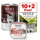 300g/400g Wolf of Wilderness Wet Dog Food - 10 + 2 Free!*