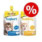 GimCat Mixpakket: 150 g Pudding + 150 g Yoghurt voor Katten
