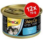 GimCat ShinyCat Jelly Kitten 12 x 70 g