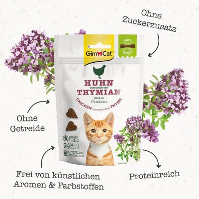 GimCat Soft Snacks – Chicken enriched with Thyme