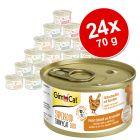GimCat Superfood ShinyCat Duo -säästöpakkaus 24 x 70 g