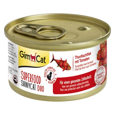 GimCat Superfood ShinyCat Duo Voordeelpakket 6 x 70 g