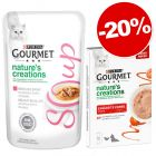Gourmet Crystal Soup 32 x 40 g + friandises Nature's Creations : - 20 %