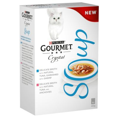 Gourmet Crystal Soup 4 x 40 g pour chat