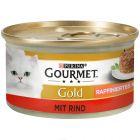 Gourmet Gold Hartig Torentje 12/24/48 x 85 g Kattenvoer