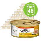 Gourmet Gold Interior Cremoso 48 x 85 g para gatos