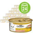Gourmet Gold Tenros Pedaços 24 x 85 g - Pack económico