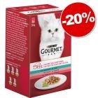 Gourmet Mon Petit 6 x 50 g pour chat : 20 % de remise !