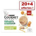 Gourmet Nature's Creation pour chat 20 x 85 g + 4 boîtes offertes !