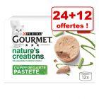 Gourmet Nature's Creation pour chat 24 x 85 g + 12 boîtes offertes !