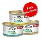 Gourmet Nature's Creations Mini bouchées lot 3 saveurs 36 x 85 g pour chat