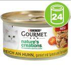 Gourmet Nature's Creations Mini bouchées 24 x 85 g pour chat