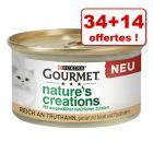 Gourmet Nature's Creations Mini bouchées 34 x 85 g + 14 x 85 g offertes !