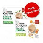 Gourmet Nature's Creations Mousse lot 2 saveurs 24 ou 48 x 85 g pour chat