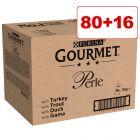 Gourmet Perle kissanruoka 96 x 85 g: 80 + 16 kaupan päälle!