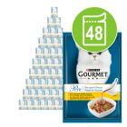 Gourmet Perle Trionfo di Salsa 48 x 85 g Alimento umido per gatti