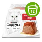 Икономична опаковка Gourmet Revelations Mousse  храна за котки 12 x 57 г