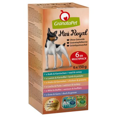 GranataPet Mini Royal -mixrasiat 6 x 150 g
