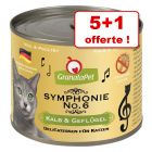 GranataPet Symphonie pour chat 5 x 200 g + 1 boîte offerte !