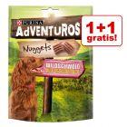 1 + 1 gratis! AdVENTuROS Nuggets, przysmak dla psa, 2 x 300 g