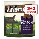 3 + 3 gratis! AdVENTuROS, przysmak dla psa, 6 x 90 g
