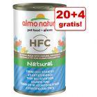 20 + 4 gratis! Almo Nature HFC, 24 x 140 g