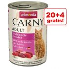 20 + 4 gratis! Animonda Carny Adult, 24 x 400 g