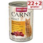 22 + 2 gratis! Animonda Carny Adult 24 x 400 g
