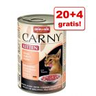 20 + 4 gratis! Animonda Carny Kitten, 24 x 400 g