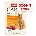 23 + 1 gratis! Animonda Carny Pliculețe 24 x 85 g