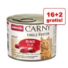 16 + 2 gratis! Animonda Carny Single Protein Adult, 18 x 200 g