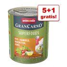 5 + 1 gratis! Animonda GranCarno Adult Superfoods, 6 x 800 g