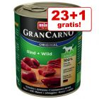 23 + 1 gratis! Animonda GranCarno Original Adult 24 x 800 g