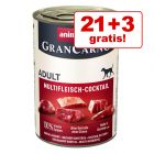 21 + 3 gratis! Animonda GranCarno Original 24 x 400 g