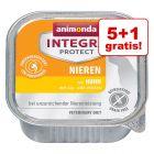 5 + 1 gratis! Animonda Integra Protect, tacki, 150 g