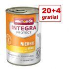 20 + 4 gratis! Animonda Integra Protect, 24 x 400g
