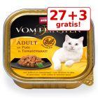 27 + 3 gratis! Animonda vom Feinsten Adult fără cereale, în sos, 30 x 100 g