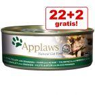 22 + 2 gratis! Applaws Adult Conserve în sos 24 x 156 g
